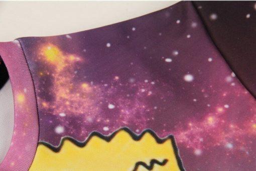 На картинке свитшот с Бартом Симпсоном (Simpsons) Космос, детали.
