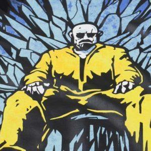 На картинке футболка «Игра престолов» и «Во все тяжкие», детали.