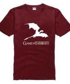 На картинке футболка «Дракон» (Игра престолов), вид спереди, цвет красный.