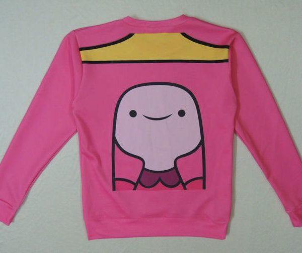 На картинке свитшот-кофта «Принцесса Жвачка» Время приключений (Adventure time), вид спереди.
