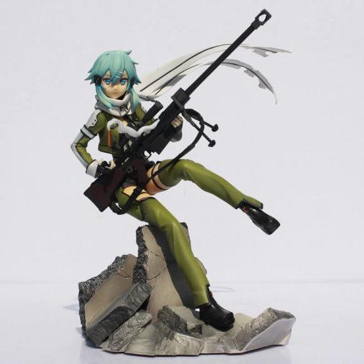 На картинке фигурка Синон «Sword Art Online», вид спереди.