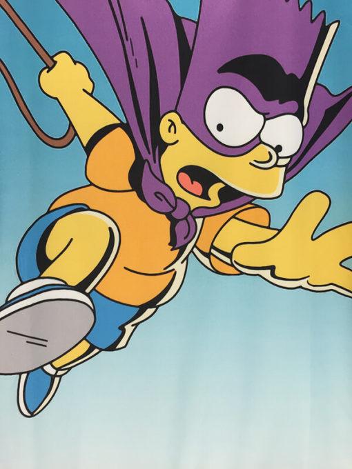 На картинке свитшот с Бартом Симпсоном (Simpsons) Bartman, детали.