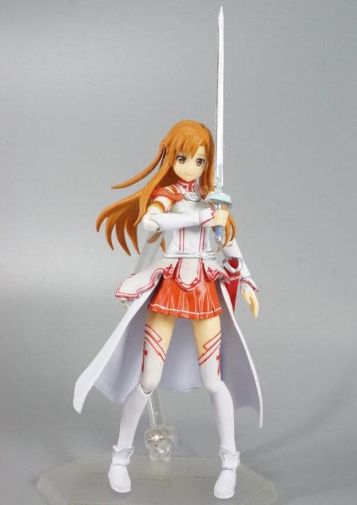 На картинке фигурка «Асуна» подвижная (Sword Art Online), вид спереди.