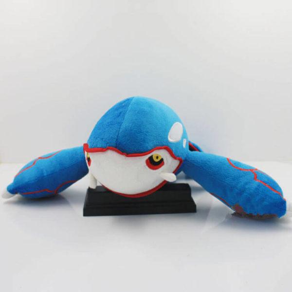 На картинке мягкая игрушка покемон Кайогр (kyogre), вид спереди.
