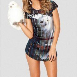 На картинке футболка Сова Букля (Гарри Поттер), вид спереди.