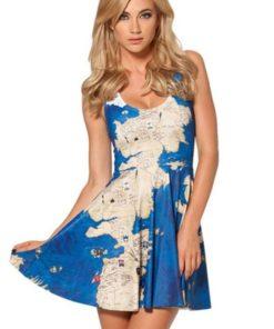 На картинке платье «Карта Вестероса» (Игра престолов), вид спереди.