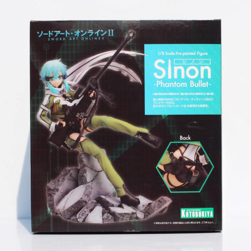 На картинке фигурка Синон «Sword Art Online», упаковка.