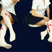 На картинке модные колготки с имитацией чулков «Асуна» (Sword Art Online), общий вид.