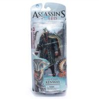 На картинке фигурка Xэйтем Кенуэй из Ассасин крид 3, вид спереди в упаковке.