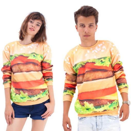 На картинке свитшот «Гамбургер», вид спереди.