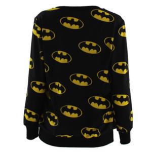 На картинке свитшот «Бэтмен», вид сзади.