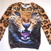 На картинке свитшот «Леопард», вид спереди.