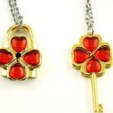 На картинке ключ и замок «Чара хранители», цвет красный.