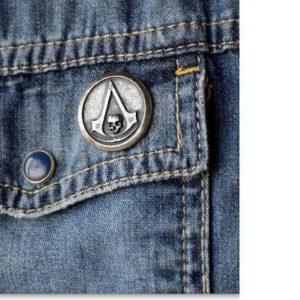 На картинке значок ассасина «Assassins creed» (Ассасин крид), общий вид.