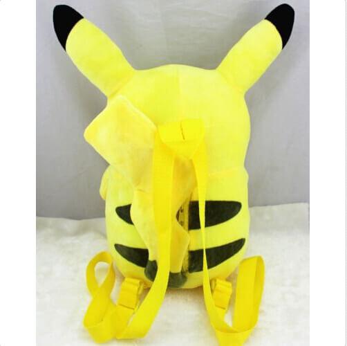 На картинке рюкзак «Пикачу» (Покемоны), вид сзади.