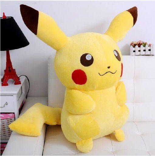 На картинке плюшевая игрушка Пикачу (Покемон), общий вид.