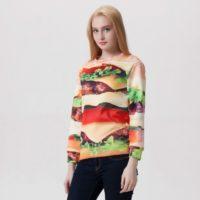 На картинке свитшот «Гамбургер», общий вид.
