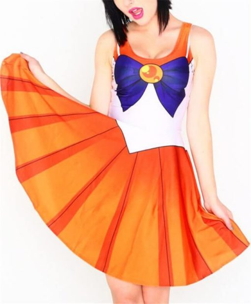 На картинке платье Сейлормун (Сейлор мун) 9 вариантов, вариант - Сейлор Венера.