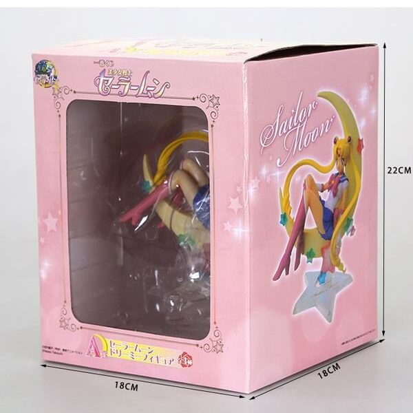 На картинке фигурка из аниме Сейлормун (Сейлор мун), общий вид в упаковке.