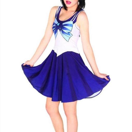 На картинке платье Сейлормун (Сейлор мун) 9 вариантов, вариант - Сейлор Меркурий.