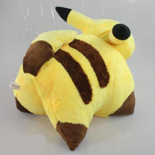 На картинке подушка Пикачу (Покемон), вид сзади.