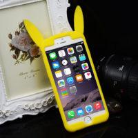 На картинке чехол «Пикачу» на айфон 4-4S-5-5S-6-6+ (Покемоны), вид спереди.
