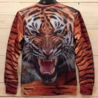 На картинке свитшот с тигром (оранжевый), вид сзади.