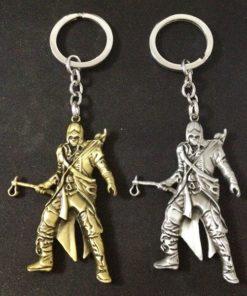 На картинке брелок «Assassins creed» (Ассасин крид), 2 варианта, вид спереди.