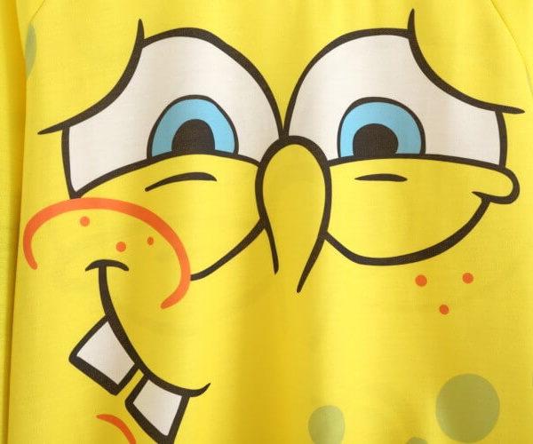 На картинке свитшот Спанч Боб (8 вариантов), вариант номер 1, крупный план.