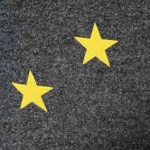 На картинке свитшот «Звезды», крупный план.