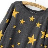 На картинке свитшот «Звезды», вид спереди.