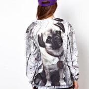 Свитшот с собакой «Мопс» фото