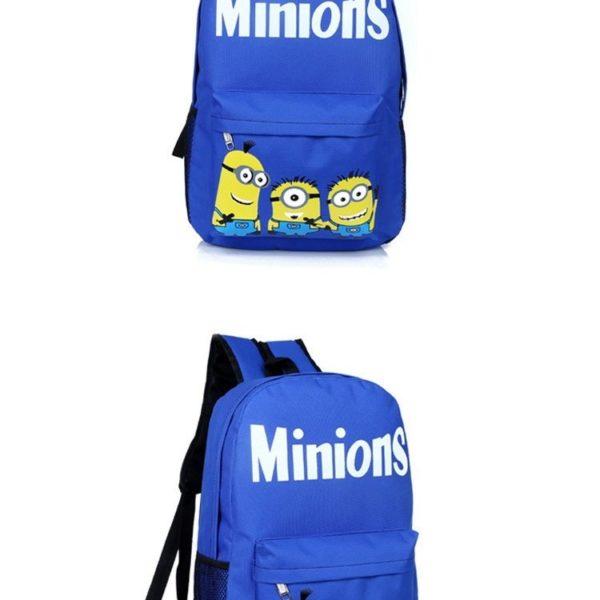 На картинке рюкзак с миньонами (Гадкий Я), вид спереди, цвет синий.