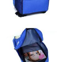 На картинке рюкзак с миньонами (Гадкий Я), вид внутри и снизу, цвет синий.