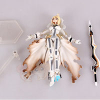 На картинке фигурка Fate Zero Сейбер в свадебном платье (подвижная), детали.
