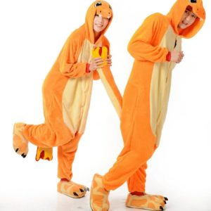 На картинке пижама-кигуруми «Чармандер» Charmander (Покемоны), общий вид.