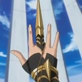 На картинке Судзумэбати Сой Фон (Блич), кадр из аниме.