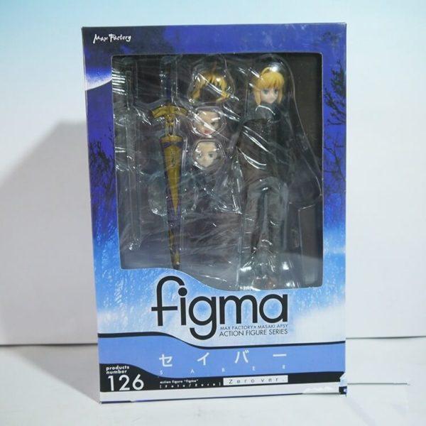 На картинке фигурка Fate Zero Сейбер в черном костюме (подвижная), в упаковке.