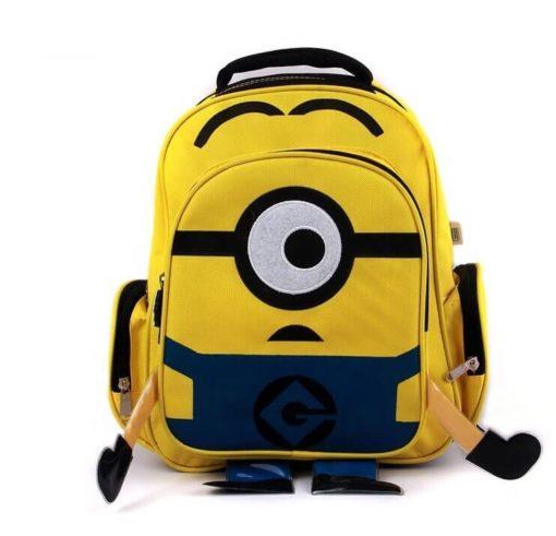 На картинке рюкзак в виде Миньона (Гадкий Я), вид спереди.