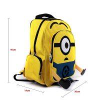 На картинке рюкзак в виде Миньона (Гадкий Я), общий вид.