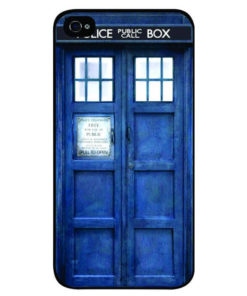 На картинке чехол «Доктор Кто» на айфон 4-4S-5-5S-6-6+, вид сзади.