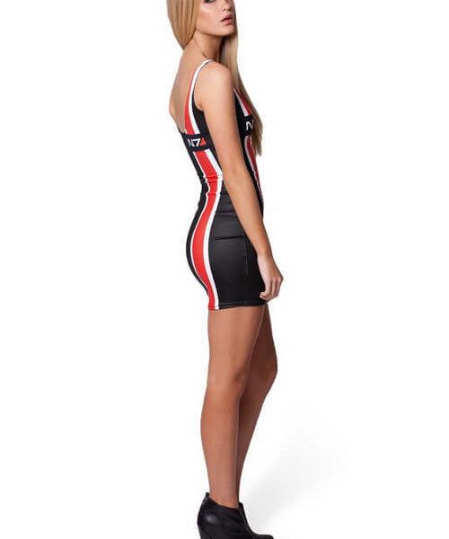На картинке платье N7 Mass effect (Масс эффект), вид сбоку.