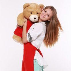 На картинке игрушка медведь Тед из фильма «Третий лишний», общий вид.