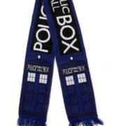 Шарф «Доктор Кто» Синяя полицейская будка фото