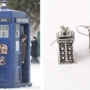 Сережки «Полицейская будка» Доктор Кто фото