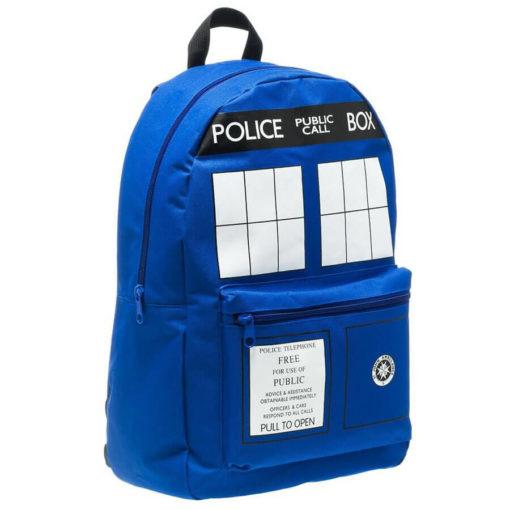 На картинке рюкзак «Доктор Кто», общий вид.