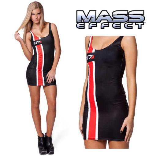 На картинке платье N7 Mass effect (Масс эффект), вид спереди.