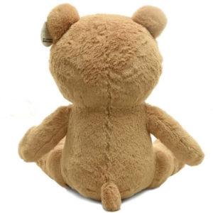 На картинке игрушка медведь (мишка) Тэд из фильма «Третий лишний», вид сзади.