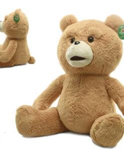 На картинке игрушка медведь (мишка) Тэд из фильма «Третий лишний», общий вид и вид сбоку.