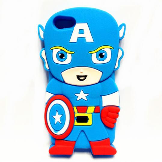 На картинке чехол «Капитан Америка» на айфон 5-5S, вид сзади.